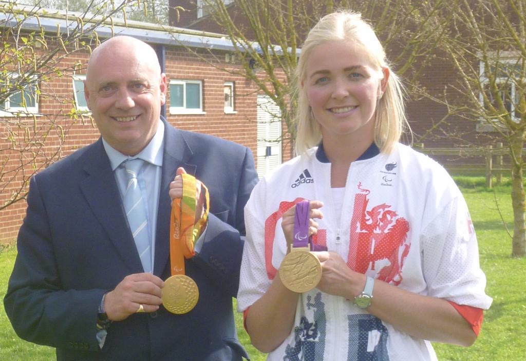 Jonathan Walton with Pamela Relph, MBE.