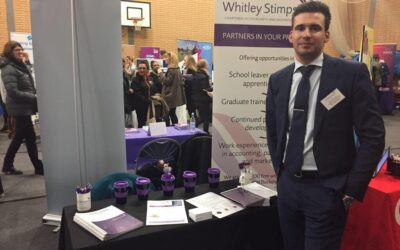 Whitley Stimpson attends High Wycombe careers fair