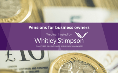 Webinar – Pensions for Business Owners