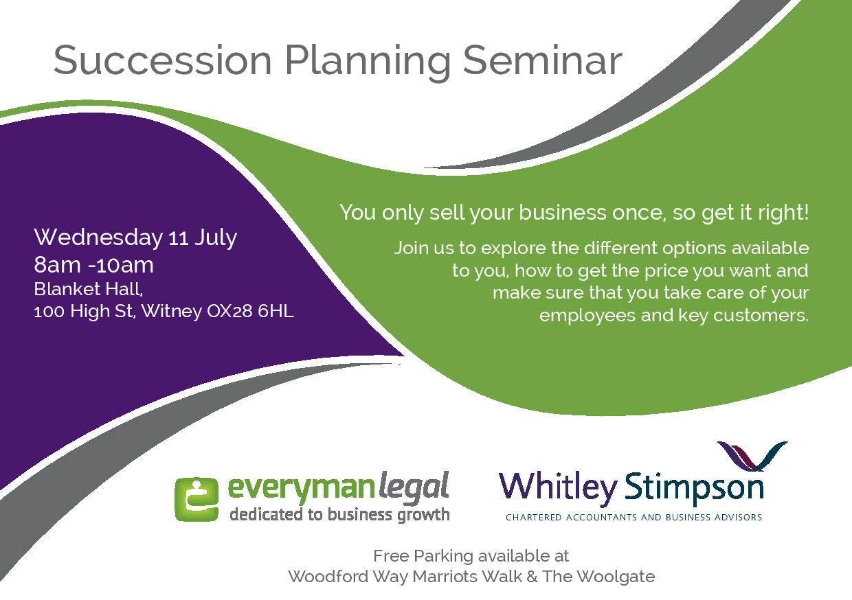 Whitley Stimpson to host Succession Planning Seminar with Everyman Legal