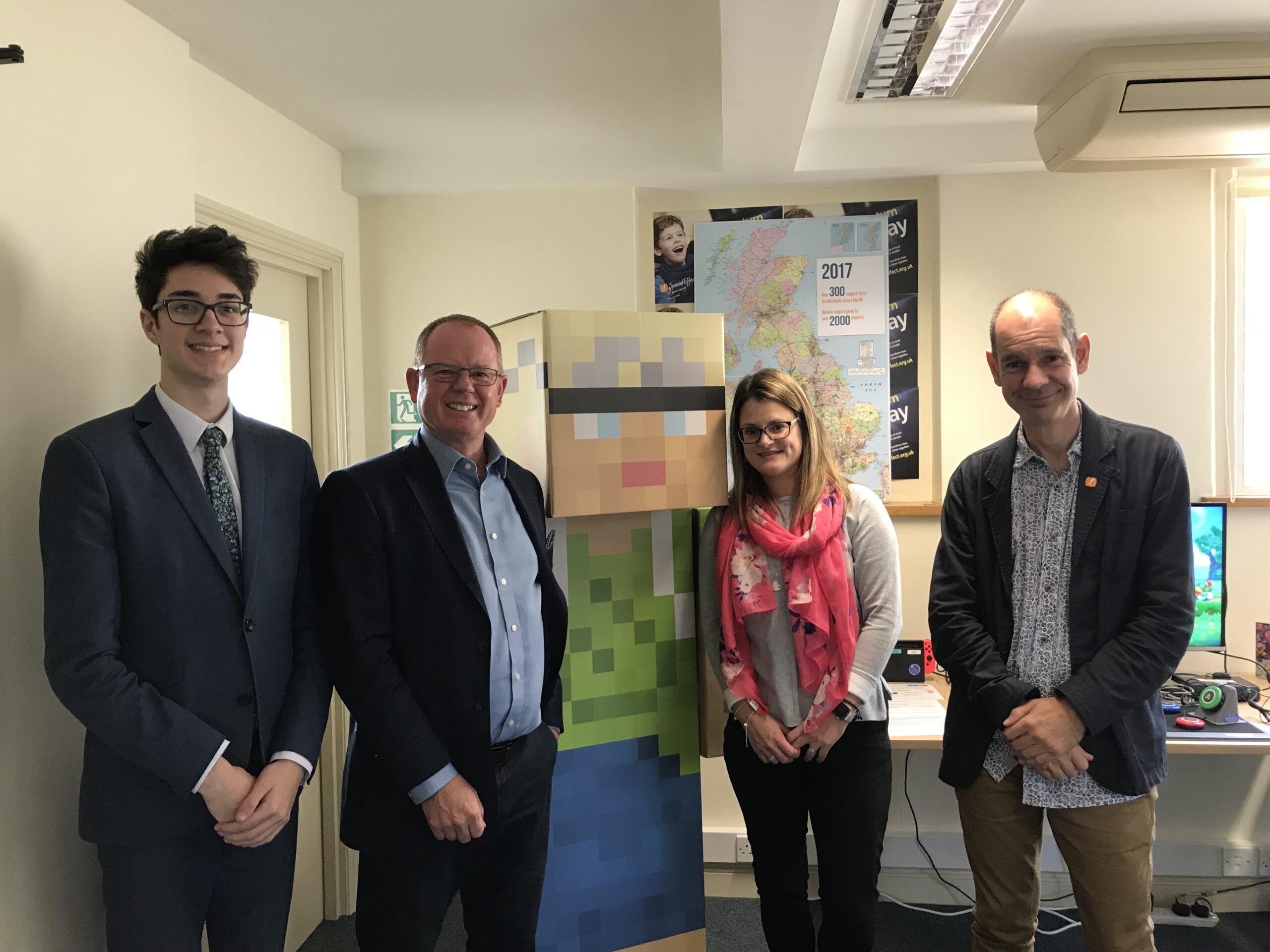 Whitley Stimpson visits SpecialEffect