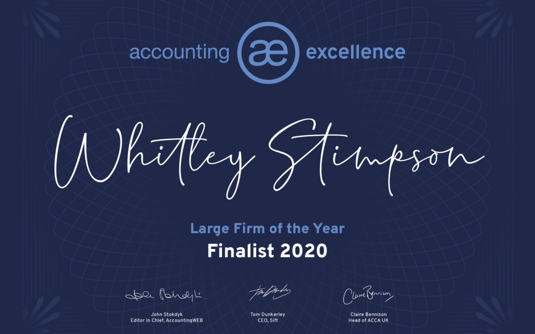Whitley Stimpson announced as a finalist for Accounting Excellence award