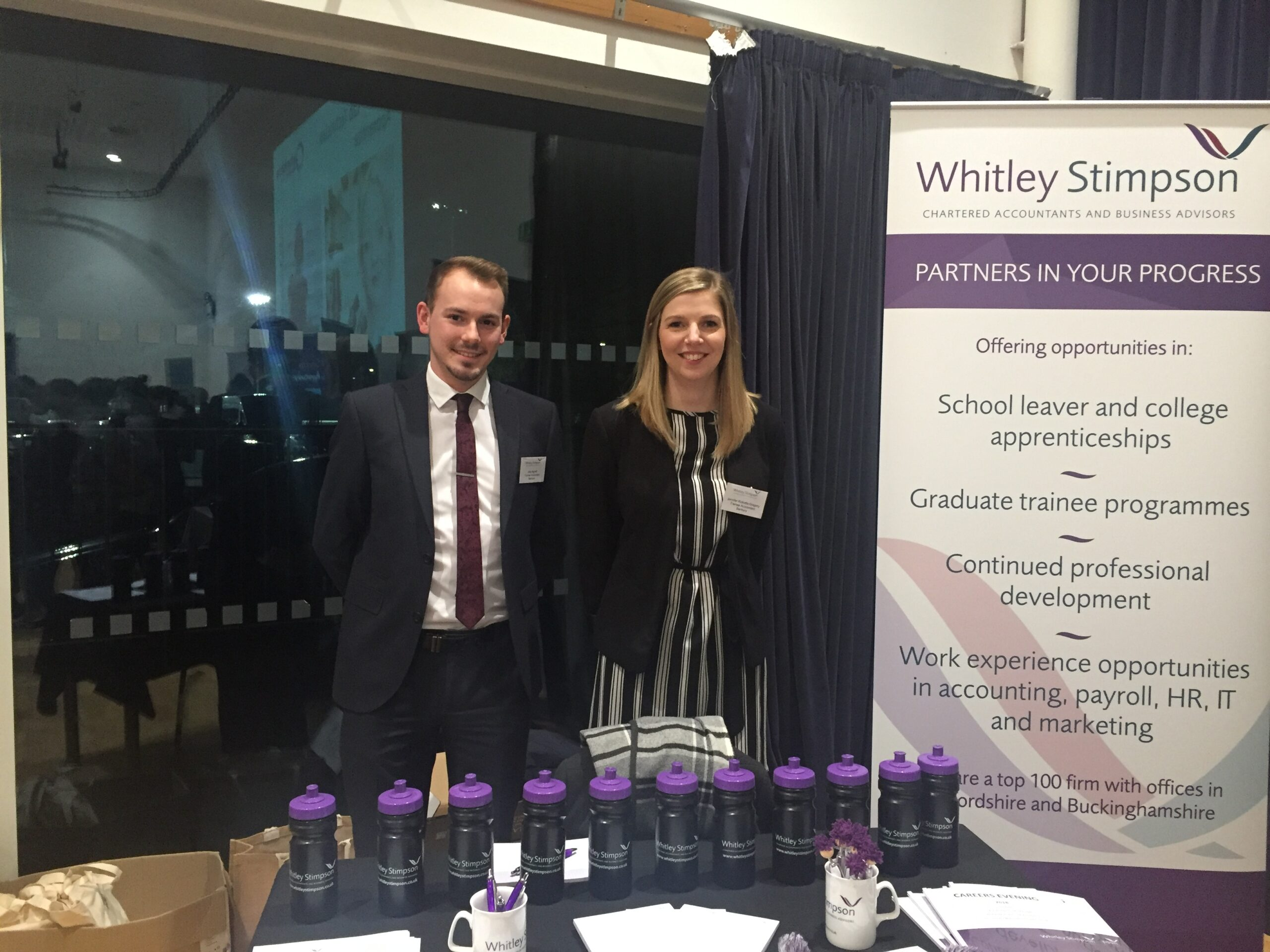 Whitley Stimpson attends North Oxfordshire Academy careers fair