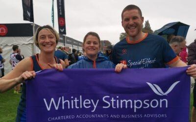 Whitley Stimpson Twin Town Challenge Team Run Oxford Half Marathon for SpecialEffect Charity