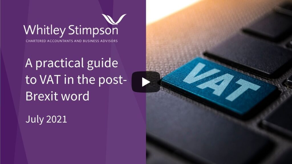 VAT in the post-Brexit world